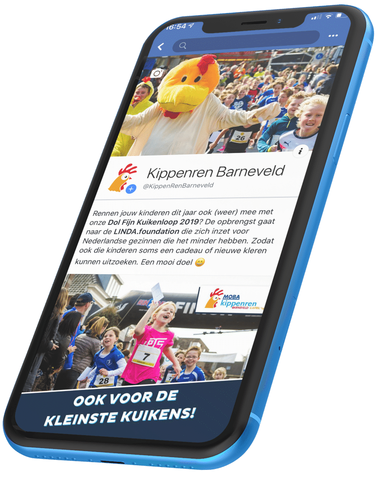 Kippen ren sponsoprojecten code blauw marketing